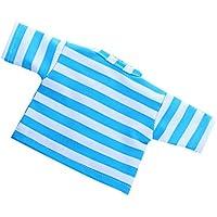 Lovoski おもちゃ 18インチドール人形用Tシャツ トップ アクセサリー 9カラー - ライトブルー