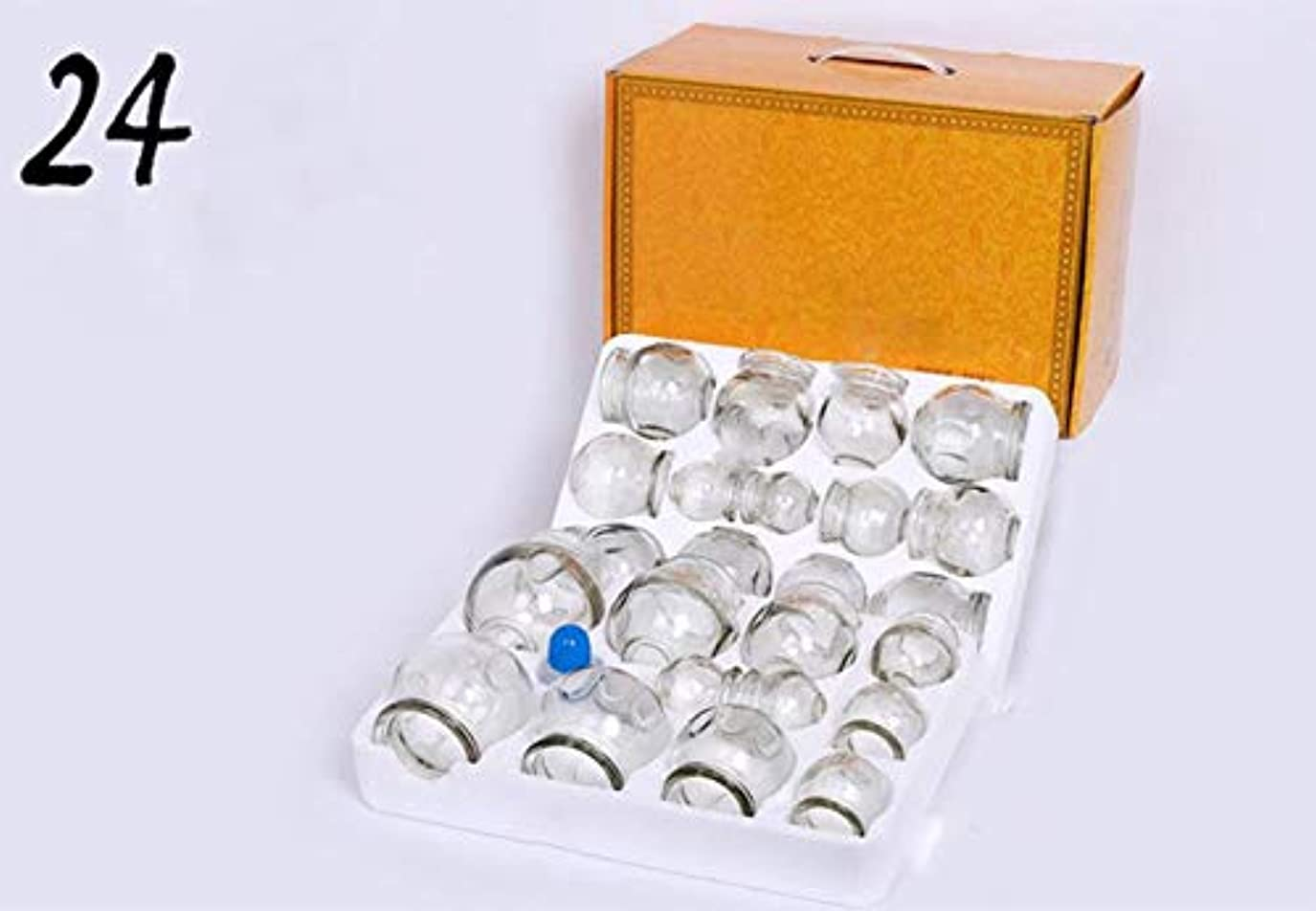接続アトム項目カッピング/ガラスカッピング/増粘火災治療全身倦怠感/フィットネス/健康マッサージ/除湿を低減するために使用さ防爆カッピング/ 16のボトル (Color : White, Size : 24 cans)