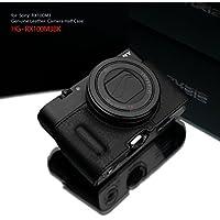 GARIZ SONY DSC-RX100M3/M4/M5用 本革カメラケース Gun Shot Ring付 HG-RX100M3BK(シボ加工) ブラック