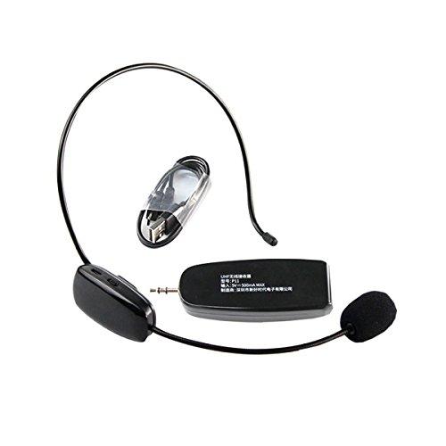[해외]GoodsLand 무선 헤드셋 마이크 마이크 2.4GHz 스테이지 무선 경량 3.5mm 스테레오 경량 휴대용 소형 미니 컴팩트 형 확성기 회의 프리젠 테이션 GD-WSMIC/GoodsLand Wireless Headset Microphone Microphone 2.4 GHz Stage Wireless Lightweight 3.5...
