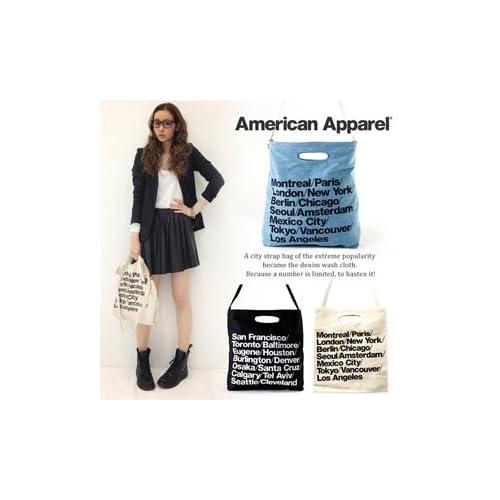 American Apparel ブルデニム ウォーバン シティバッグ トート Cities Bag ナチュラル (ナチュラル)