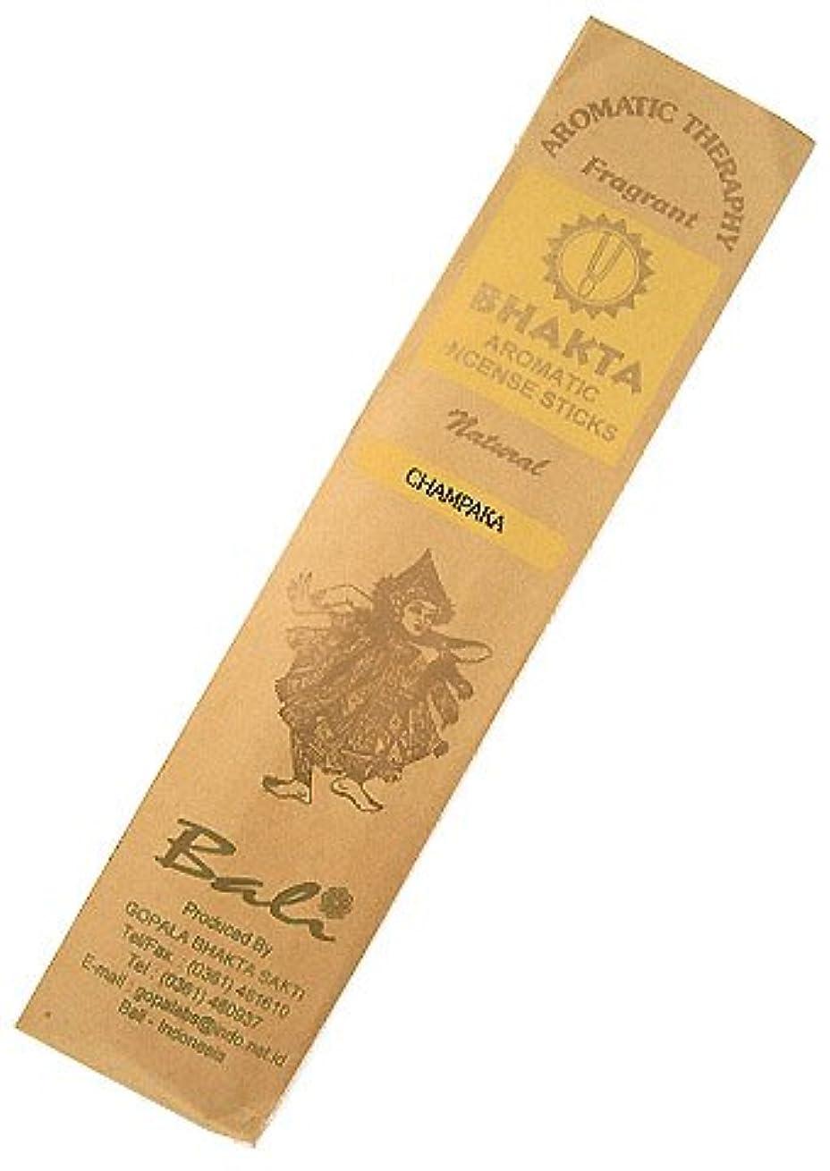 お香 BHAKTA ナチュラル スティック 香(チャンパカ) 【ロングタイプ インセンス】 インドネシア?バリ島のお香