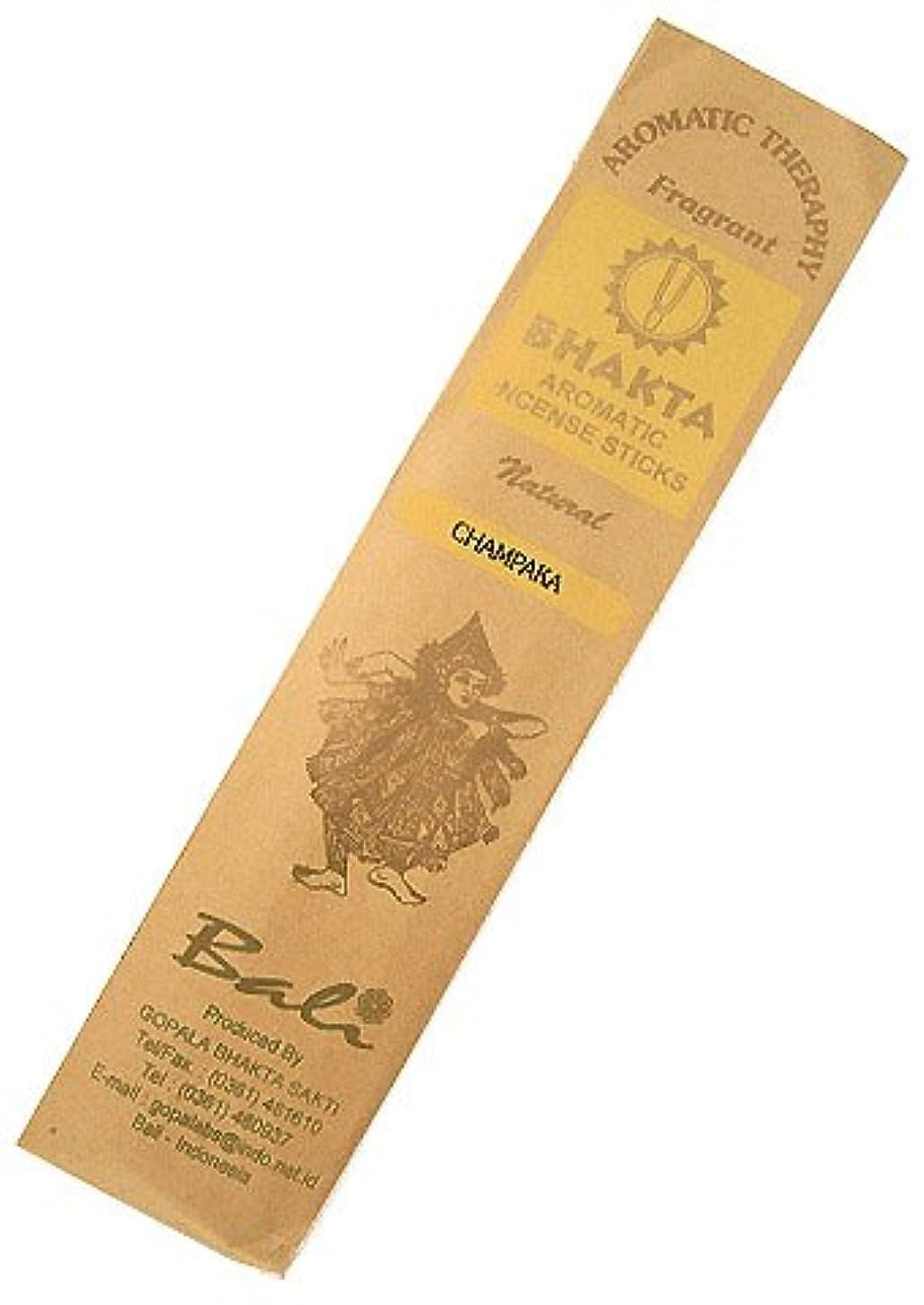 減少植物のタッチお香 BHAKTA ナチュラル スティック 香(チャンパカ) 【ロングタイプ インセンス】 インドネシア?バリ島のお香