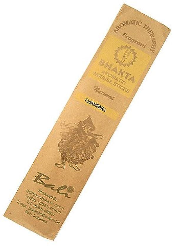 砂電子昼食お香 BHAKTA ナチュラル スティック 香(チャンパカ) 【ロングタイプ インセンス】 インドネシア?バリ島のお香