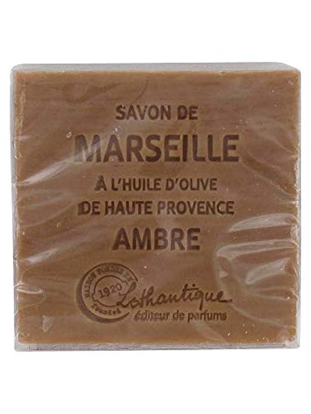 と闘う心理的に無しLothantique(ロタンティック) Les savons de Marseille(マルセイユソープ) マルセイユソープ 100g 「アンバー」 3420070038012