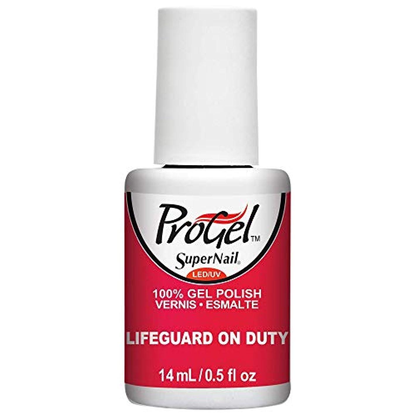 熟すひねり優しさSuperNail ProGel Gel Polish - Lifeguard on Duty - 0.5oz / 14ml