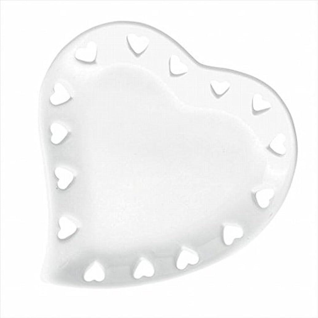聴覚ゴール効率カメヤマキャンドル(kameyama candle) ハートプレートS 「 ホワイト 」