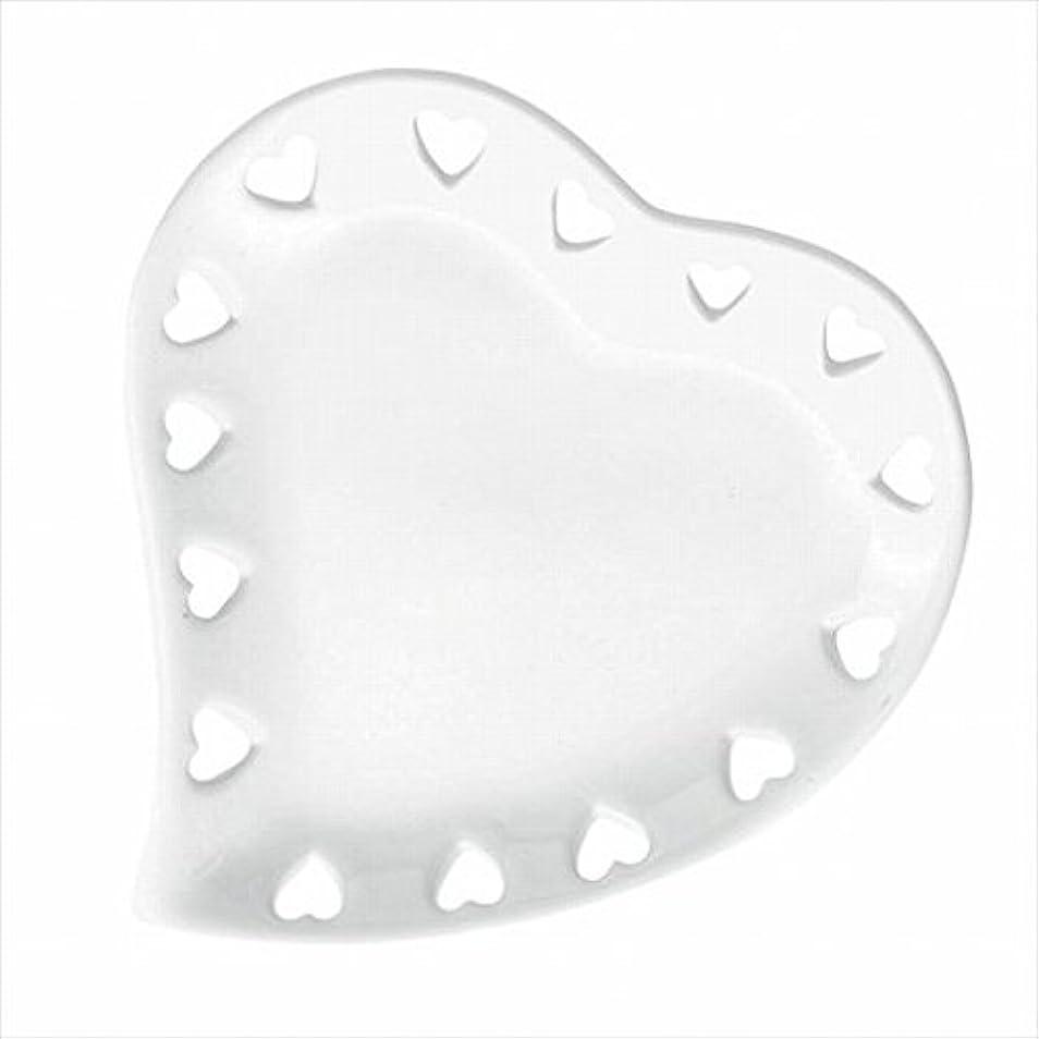 バター依存縮れたカメヤマキャンドル(kameyama candle) ハートプレートS 「 ホワイト 」
