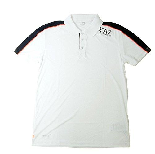 アルマーニ ポロシャツ ホワイト メンズ ゴルフ エンポリオアルマーニ EA7 A-2510 並行輸入品
