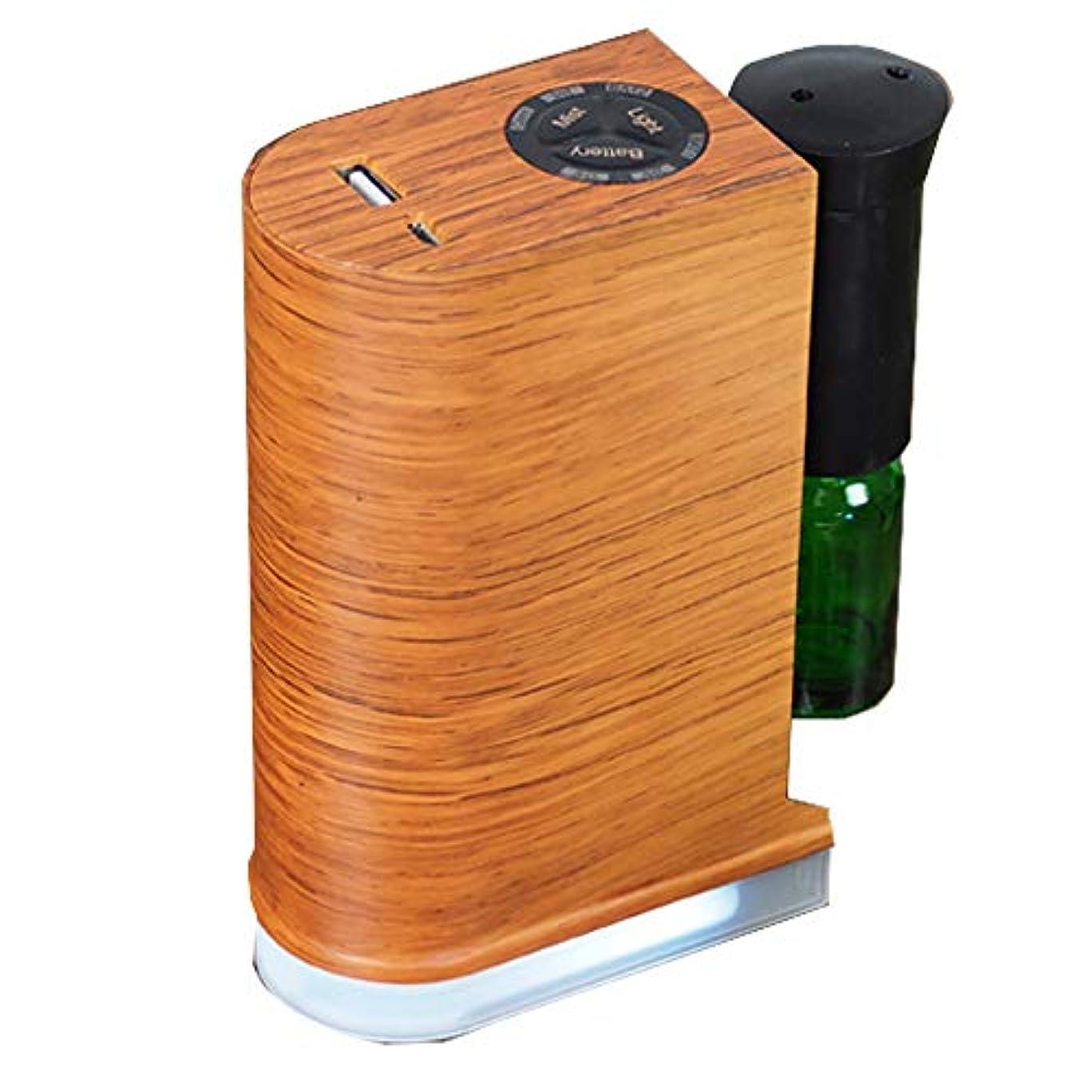 収縮ボリューム奪う木目調ネブライザー式ディフューザー【ブラウン】 / Q-001-BR / ###アロマQ-001茶###