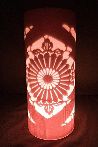 Atelier TanTan/沖縄紅型キャンドルシェイド/菊/LEDキャンドル付き/3-ume /