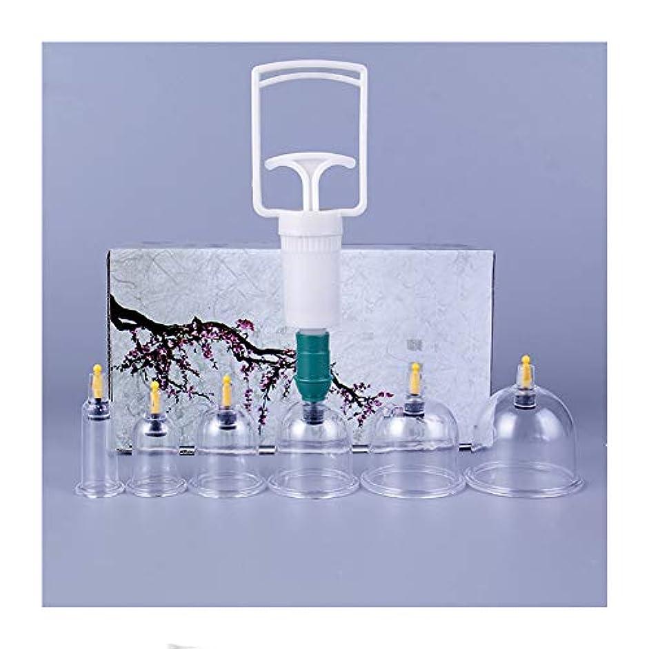 ドキュメンタリー洗剤発掘6カップカッピングセラピーセット、真空吸引生体磁気中国セラピーカップ、在宅医療、全身チクチクする剛性疲労、リリーフネック背中の痛み