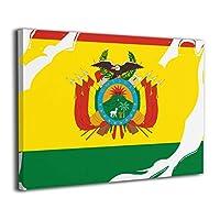絵画家族 Bolivia National Flag フレームレスペインティング モダン絵画 油絵 水彩画 現代絵画 アートパネル 壁飾り 壁掛け 風景 自然 動植物 玄関 インテリア 贈り物 お洒落