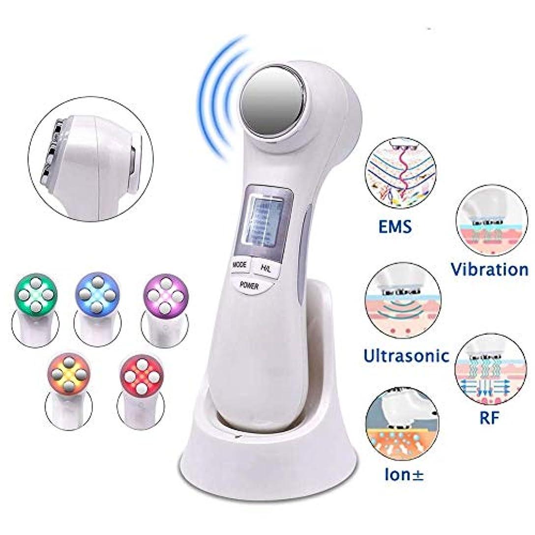 スイッチ必需品ペン5つの色の機械をきつく締める1つの顔の持ち上がる機械EMSマッサージャーの皮に付き6つは深く清潔になることの反老化のためにつきます