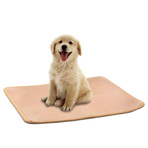 Easy-Tang ペット ベッド 犬 マット 夏 クッション 床ずれ防止 柔らかい3Dメッシュ材料 蒸れない 洗えるひんやりシート ケージ用敷物 車内敷物 キャリーバッグ対応 小型犬 中型犬 大型犬 (滑り止め M:68*53CM)