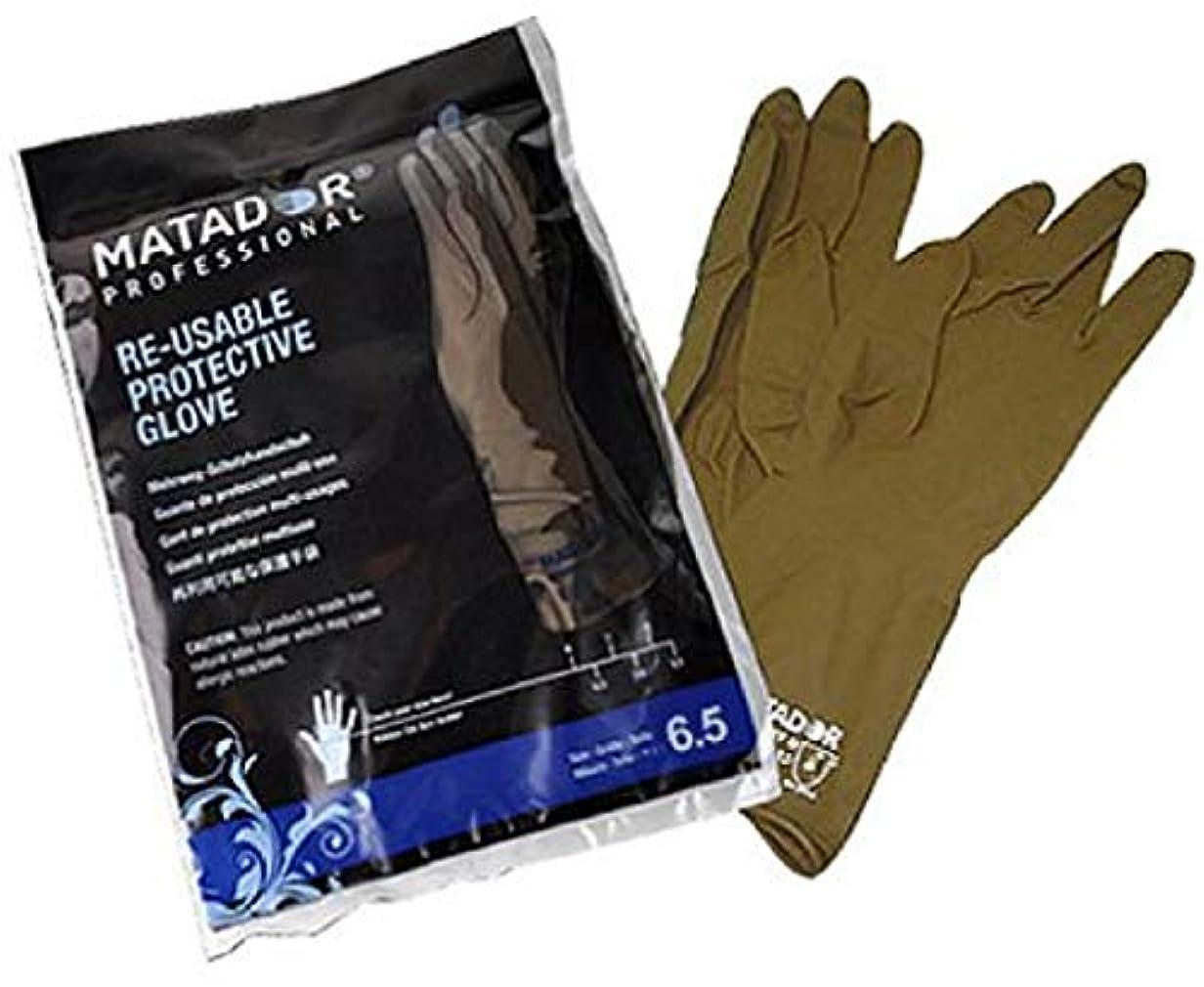 シーサイド印刷する戦艦マタドールゴム手袋 8.5吋 【24個セット】