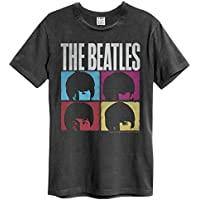 official Amplified The Beatles Hard Days Night Mens T-Shirt (Small) Charcoal