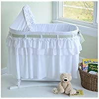 Lamont Home Good Night Baby Bassinet with Full Skirt and 3 Interchangeable Bows by Asstd National Brand [並行輸入品]