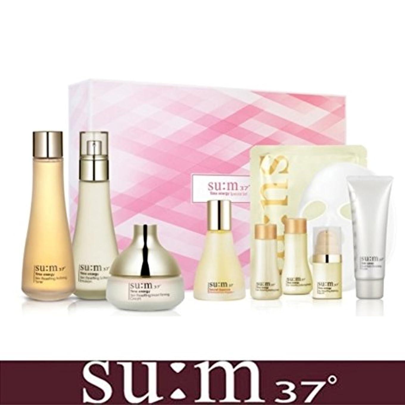 中庭正統派許容[su:m37/スム37°] SUM37 Time Energy 3pcs Special Skincare Set / タイムエネルギーの3種のスペシャルセット+[Sample Gift](海外直送品)
