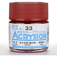 【水性アクリル樹脂塗料】新水性カラー アクリジョン あずき色(赤2号) N33