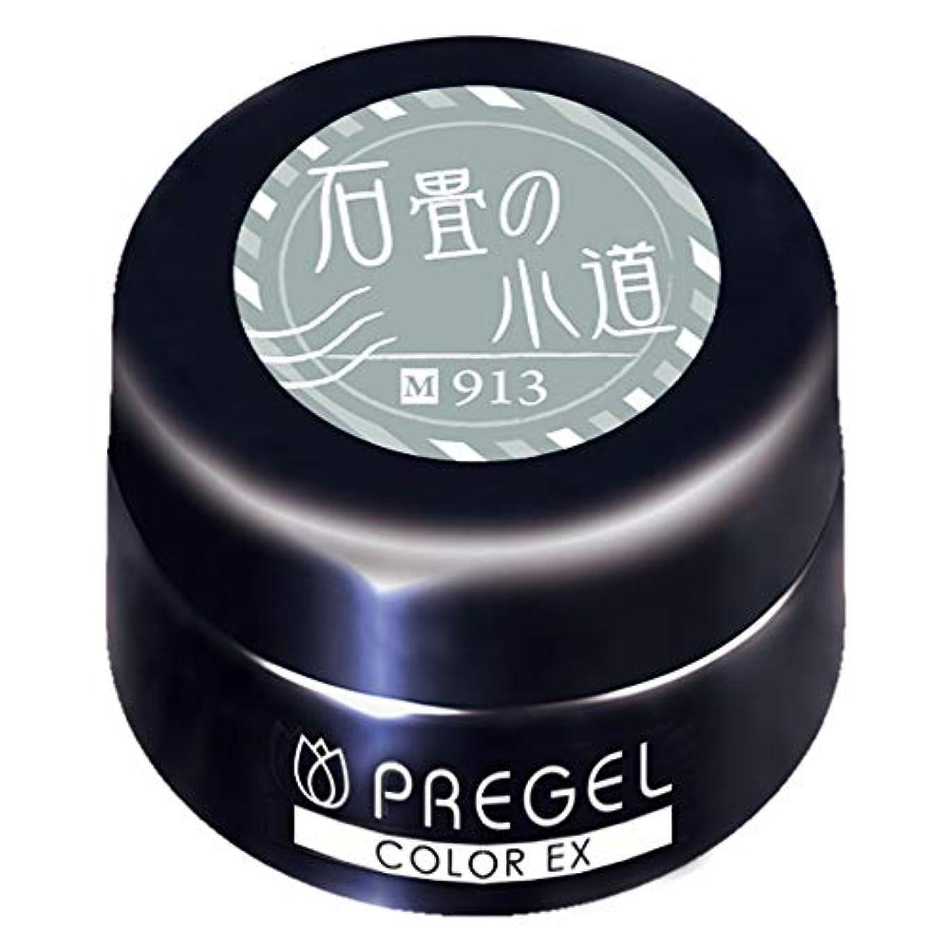 雑多なしおれた媒染剤PRE GEL カラーEX 石畳の小道913 3g PG-CE913 UV/LED対応