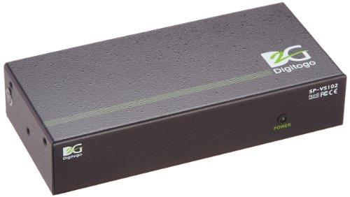 Digitogo SPシリーズ 1入力2出力VGA分配器 SP-VS102