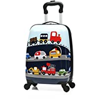 "Winsday 18"" Kids Carry On Luggage Set Upright Hard Side Hard Shell Suitcase Travel Trolley ABS for School Girls Boys Teens"