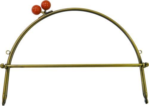 INAZUMA 口金 ベンリ― 玉付 横幅約24cm #2 珊瑚 BK-1079AG