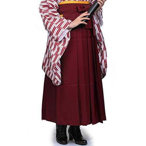 [マーメイド おおきに] 袴 レディース 無地 卒業式 単品 女性用 LL エンジ