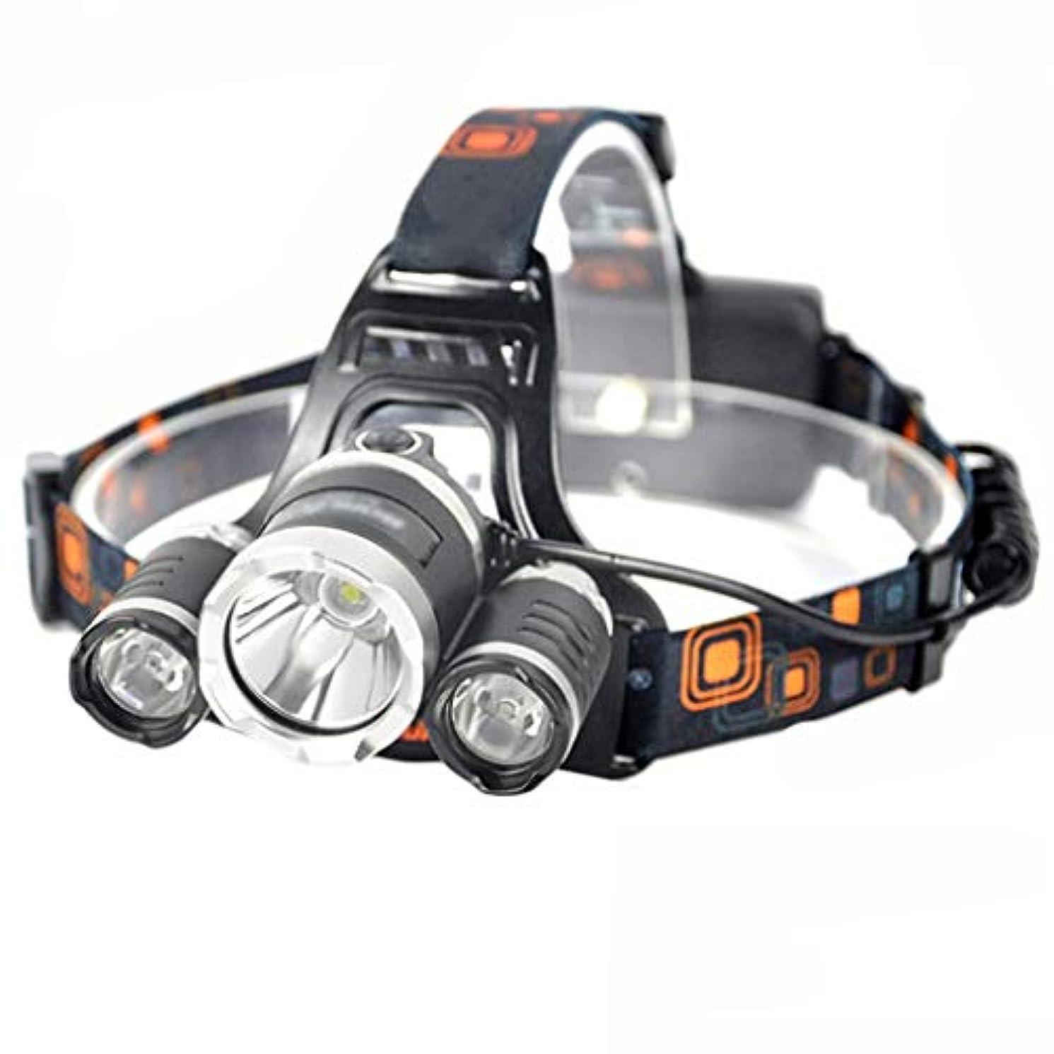 まともな不足送料夜釣りの鉱山労働者のヘッドキャンプライトアウトドアライディングワークライト、ランプヘッドは照明の方向を90度、4つの作業モード、釣り場の緊急LED鉱山労働者のヘッドウェアを調整することができます Qiuoorsqurp