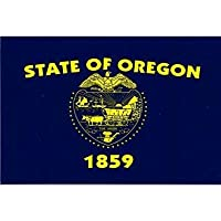 "Oregon State Flag - 3 ス"" x 5"" - High Gloss UV Coated Laminate Water Proof Sticker DECAL"
