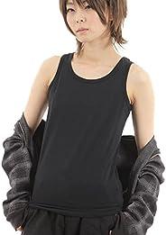 胸つぶし ナベシャツ タンクトップ 3列6段フック&ゴム (黒XL)