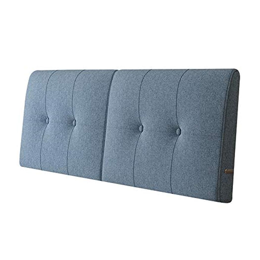 解釈的レクリエーション処方KKCF ヘッドボードクッション通気性吸湿性背もたれソリッドカラーホームホテルコットンとリネン 、5色 4サイズ (Color : B, Size : 200cm)