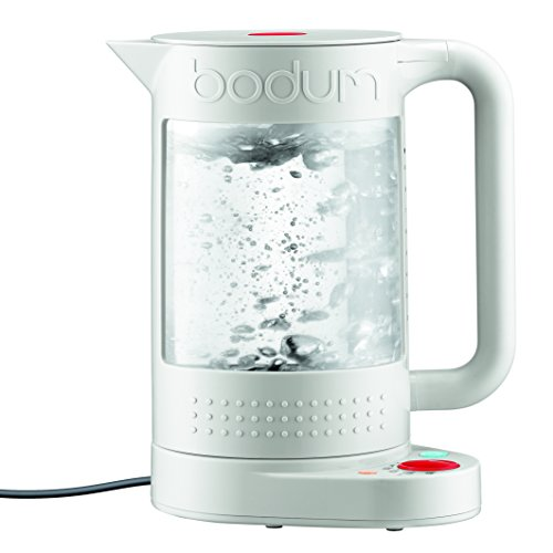 Bodum 電気ケトル 11659-913US 1L Bistro Electric Water Kettle, double Wall with Temperature Control (White)