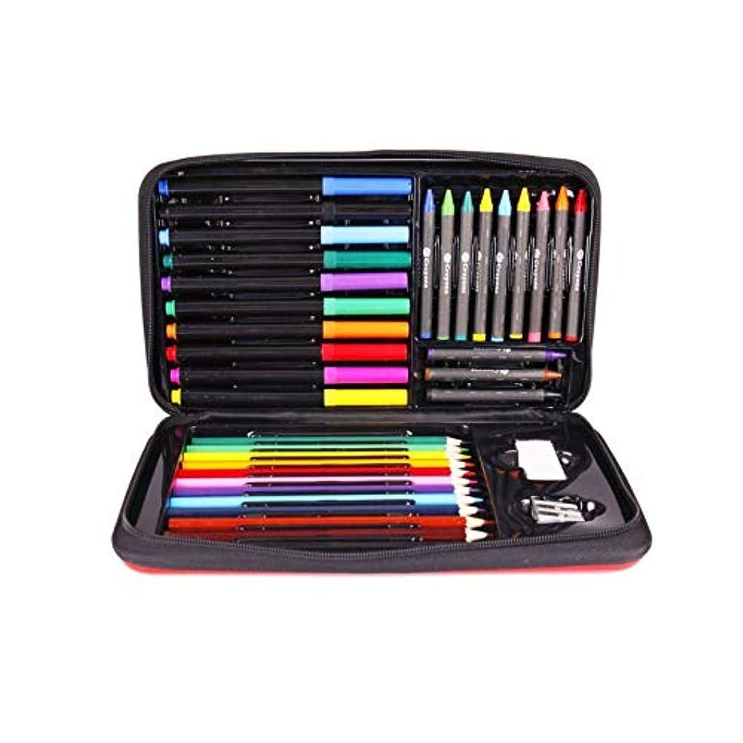 方言シャーロットブロンテ強要Qiaoxianpo001 ペイントブラシ、36の多機能ペイントツール、完全で使いやすい、クレヨン/カラーリード/水彩ストローク(36個、17x29x4cm)に適しています 滑らかなストローク (Color : 36 pieces, Size : 17x29x4cm)