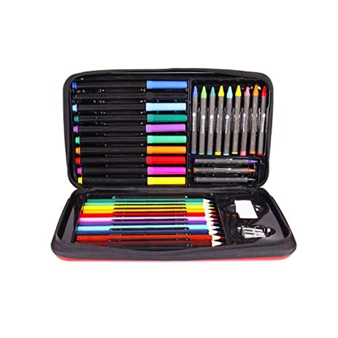 袋同様にネットJinnuotong ペイントブラシ、36の多機能ペイントツール、完全で使いやすい、クレヨン/カラーリード/水彩ストローク(36個、17x29x4cm)に適しています 執筆および絵画は滑らかです (Color : 36 pieces, Size : 17x29x4cm)