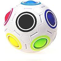 Dingji 2pcs Fun応力RelieverマジックレインボーボールキューブFidgetパズル教育玩具