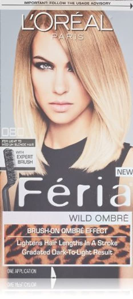 安全でない落ち着いて選ぶL'Oreal Feria Wild Ombre Hair Color, O80 Light to Medium Blonde by L'Oreal Paris Hair Color [並行輸入品]