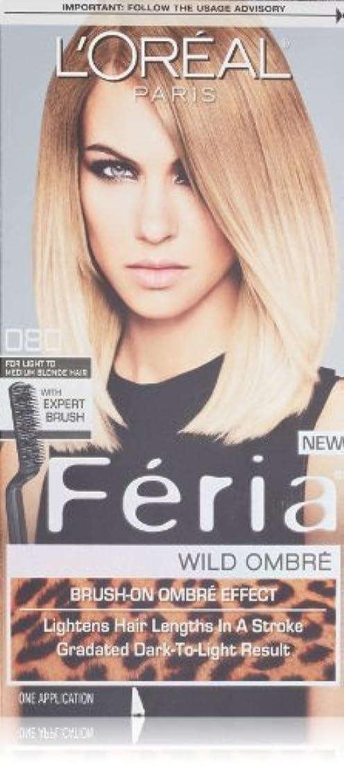 施設とティーム信じられないL'Oreal Feria Wild Ombre Hair Color, O80 Light to Medium Blonde by L'Oreal Paris Hair Color [並行輸入品]