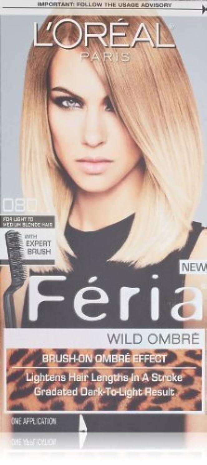 割り当てる不安定なグレードL'Oreal Feria Wild Ombre Hair Color, O80 Light to Medium Blonde by L'Oreal Paris Hair Color [並行輸入品]