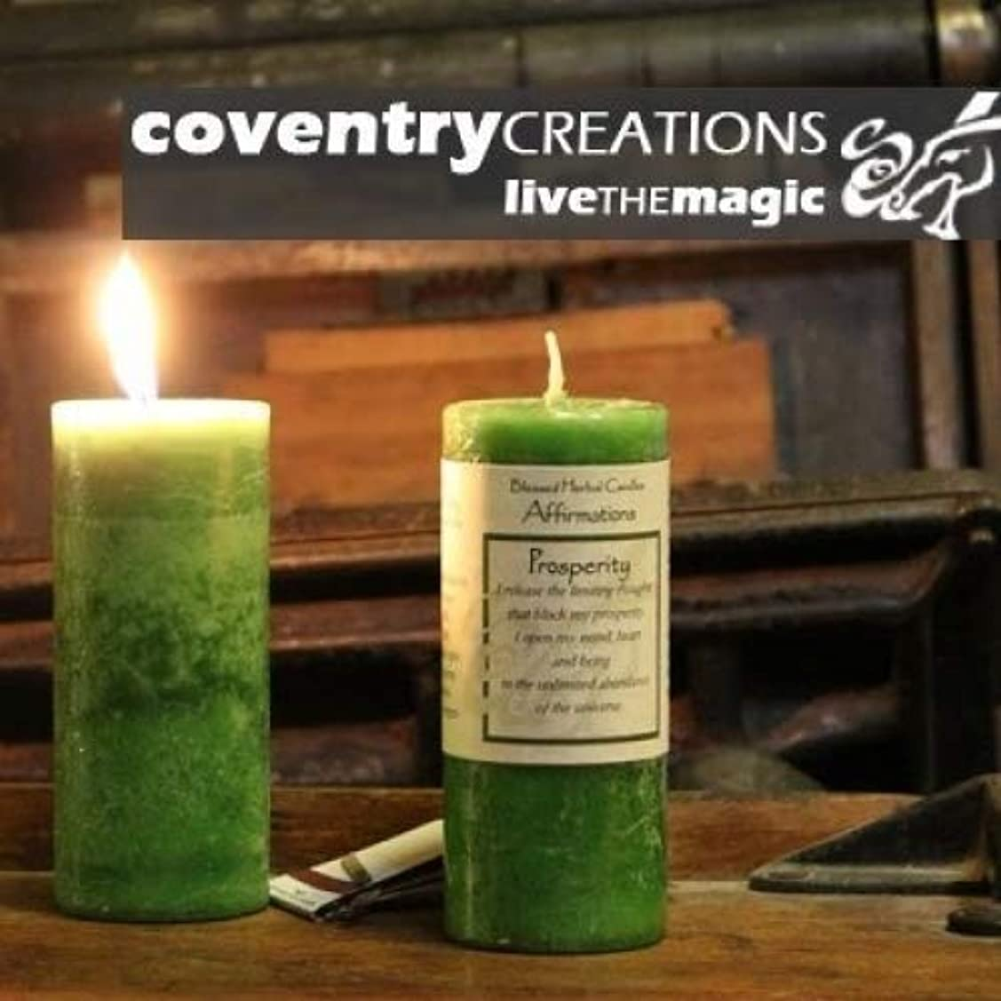 妨げる優れました有彩色のAffirmations - Prosperity Candle by Coventry Creations