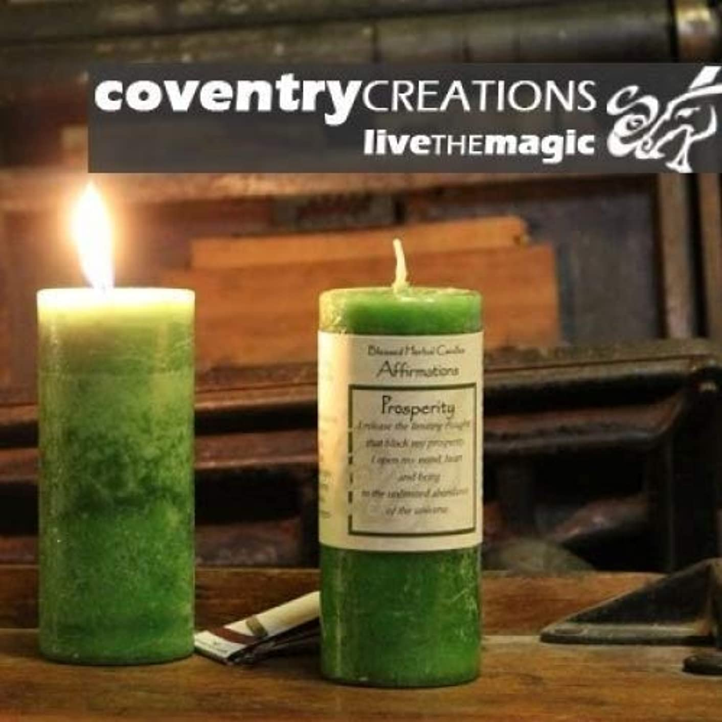 運営起訴する皮Affirmations - Prosperity Candle by Coventry Creations