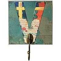 創造的なレトロ家具の部屋の服の帽子のキーホック、手紙V