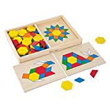 Melissa & Doug Personalized Pattern Blocks & Boards Classic Toy