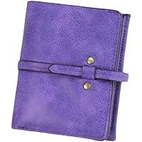 ヨーロピアンスタイルショート財布レザーハンドバッグMini pouch-purple