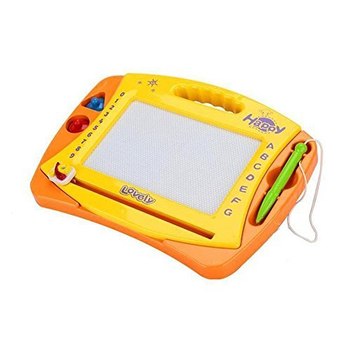 Kardiar Boy Girl Educational Color Cartoon Magnetic Drawing Game Board Game Learning Erasable Doodle Sketch Tablet Playboard with Stamps by XINCHENG [並行輸入品]