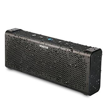 VENSTAR Bluetoothスピーカー ワイヤレススピーカー ポータブルスピーカー デュアルドライバー 最大出力10W 低音強化/軽量設計/高音質 /防水仕様/アウトドア/野外対応