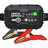 NOCO GENIUS2AU, 2-Amp Fully-Automatic Smart Charger, 6V and 12V Battery Charger, Battery Maintainer, and Battery Desulfator with Temperature Compensation