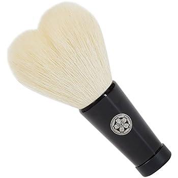 hws-S-WH 熊野筆 六角館さくら堂 キュートなハート型の洗顔ブラシ (S) ホワイト 山羊毛/PBT混毛
