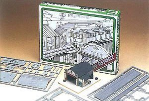 Nゲージ 803 小型駅・対向式ホーム・バス車庫 (未塗装キット)